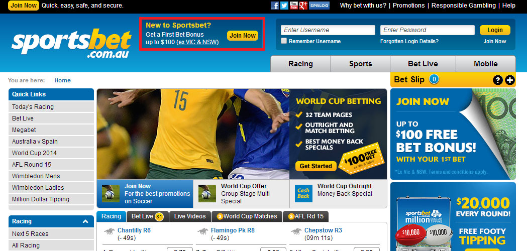 Sportsbet Register Now